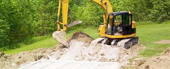 Excavator Digging Septic